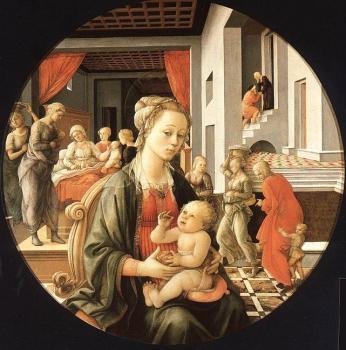Fra Filippo Lippi : Madonna and Child with Stories of the Life of St. Anne